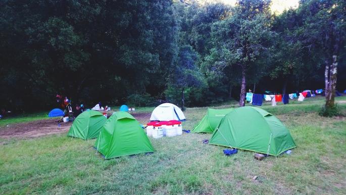 Khu vực dựng trại tại Bivouac de Gaud