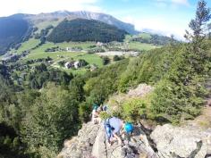 Khung cảnh nhìn từ đích của Via Ferrata Alpe du Grand Serre