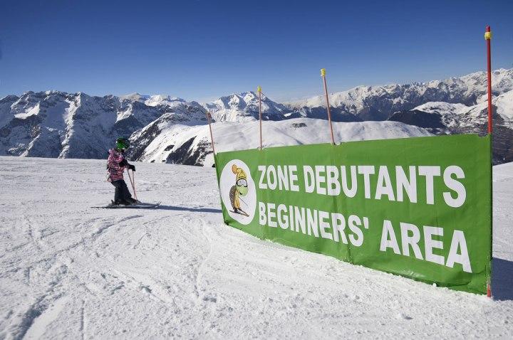 Zone débutant, Station Les 2 Alpes.