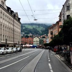 Thành phố yên bình Innsbruck, Áo.