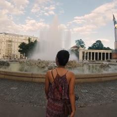 Quảng trường Hochstrahlbrunnen, Áo.